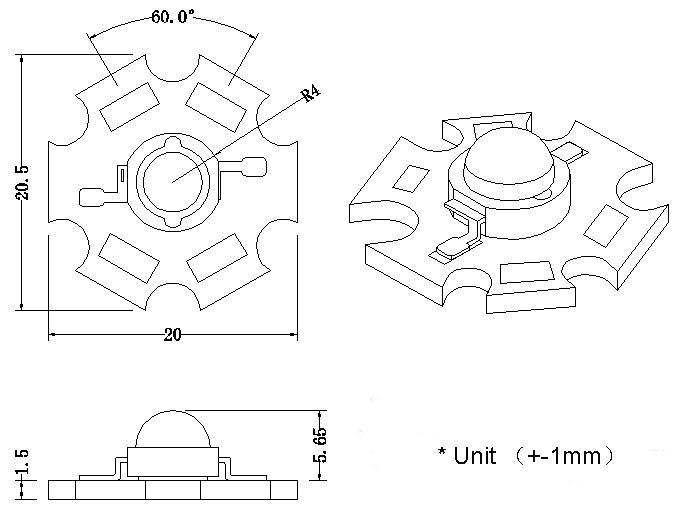 100X лучшее качество 3 Вт 940nm инфракрасный ИК высокой мощности светодиодный Диод излучатель с радиатором