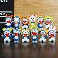 12 unids/lote Anime Doraemon Figura de Acción Juguetes, 12 Chinese Zodiac Constelación Cosplay Doraemon Figuras Niños Juguetes, Anime Brinquedos