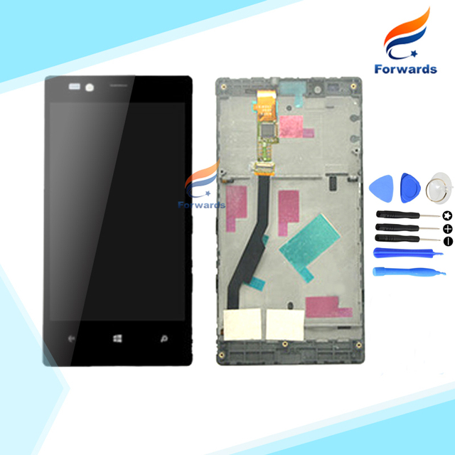 100% Guarantee for Nokia Lumia 720 LCD Screen Display with Touch+Frame+Free Tools full assembly 4.3 inch 1 piece free shipping
