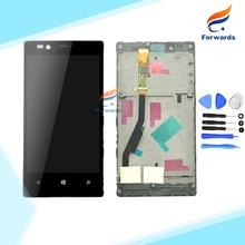 Garantía 100% para nokia lumia 720 pantalla lcd con pantalla táctil + marco + herramientas gratuitas de montaje completo 4.3 pulgadas 1 unidades envío gratis