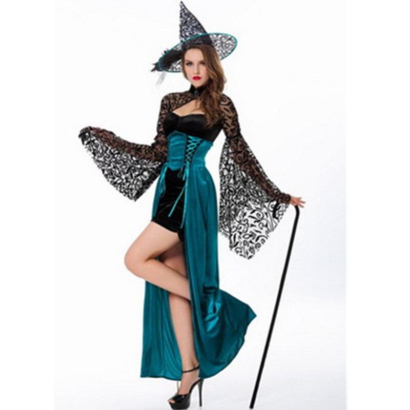 Yeni Qadın Halloween Cadı Kostyum Yetkin Maskarad Cosplay Kostyum - Karnaval kostyumlar - Fotoqrafiya 2