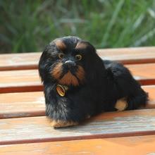 furry fake fur cute balck dog puppy