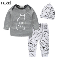 3PCS Set New Fashion Baby Boy Clothes Set Spring Autumn Clothing Set For Newborn Baby Girl