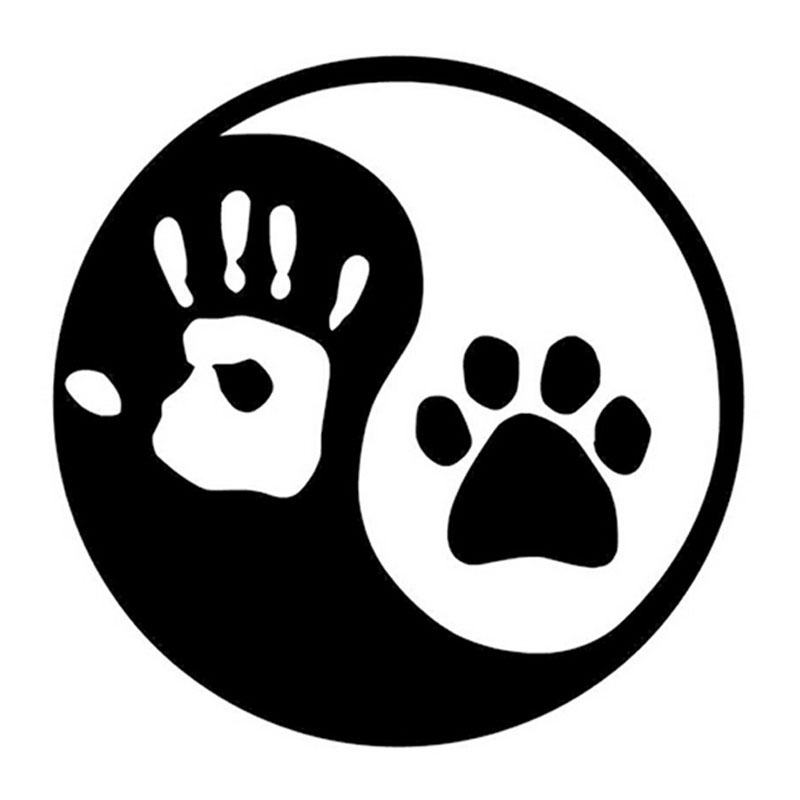 10 10cm yin and yang cat dog footprints palm print for Decoration murale yin yang
