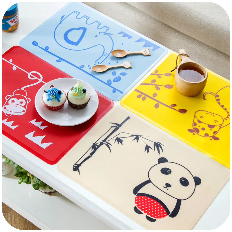 Aliexpress.com : Buy Cartoon Silicone Dining Table Mats For Children 4  Color Tea Coffee Drinks Placemat Washable Cute Mats Placemats Free Shipping  From ...