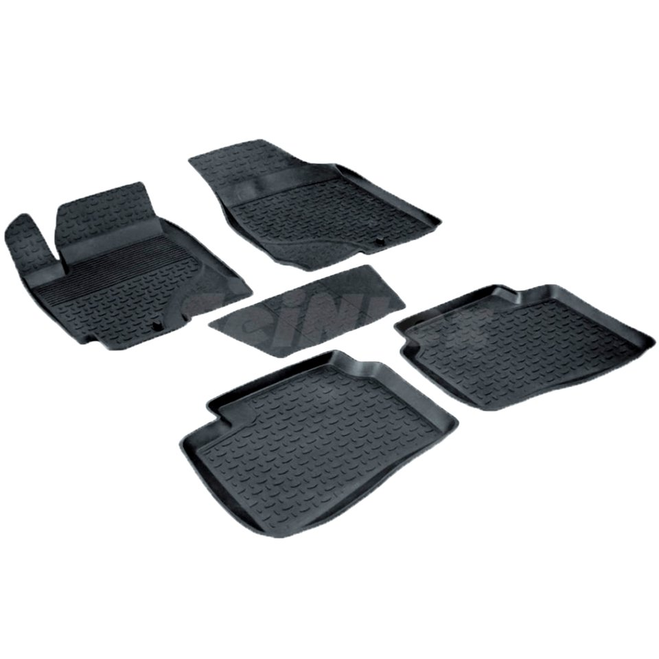 Rubber floor mats for Kia Cerato 2009 2010 2011 2012 Seintex 01482 seintex 00125 для kia cerato