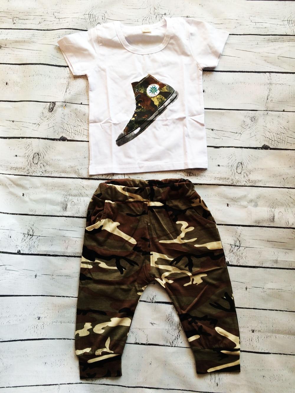 Трикотажный комплект для мальчика (футболка и бриджи) с Алиэкспресс
