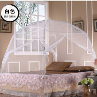 Summer home folding mosquito net white mesh mosquito netting curtain for double bed 1.5m 1.8m insect hung nets mongolian yurt
