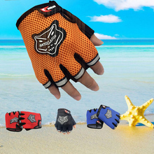 Men's Gym Gloves Workout Body Building Tactical Gloves Half Finger Fitness Weight Lifting Grips Power Exercise Mittens