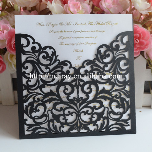 100pcs Lot Latest Indian Wedding Card Design Laser Cut Invitations Royal Blue