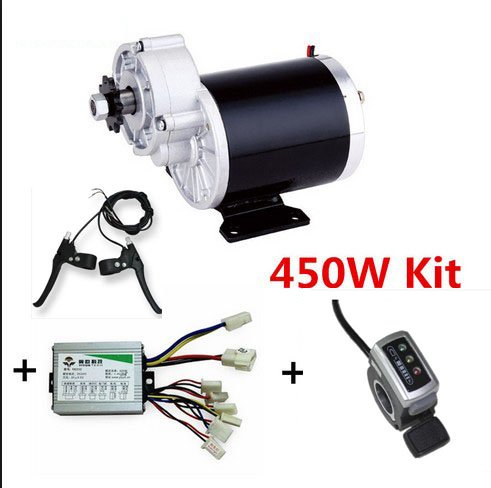 My1020z 450w 24v electric bike motor kit electric bike for How to electric motorize a bicycle