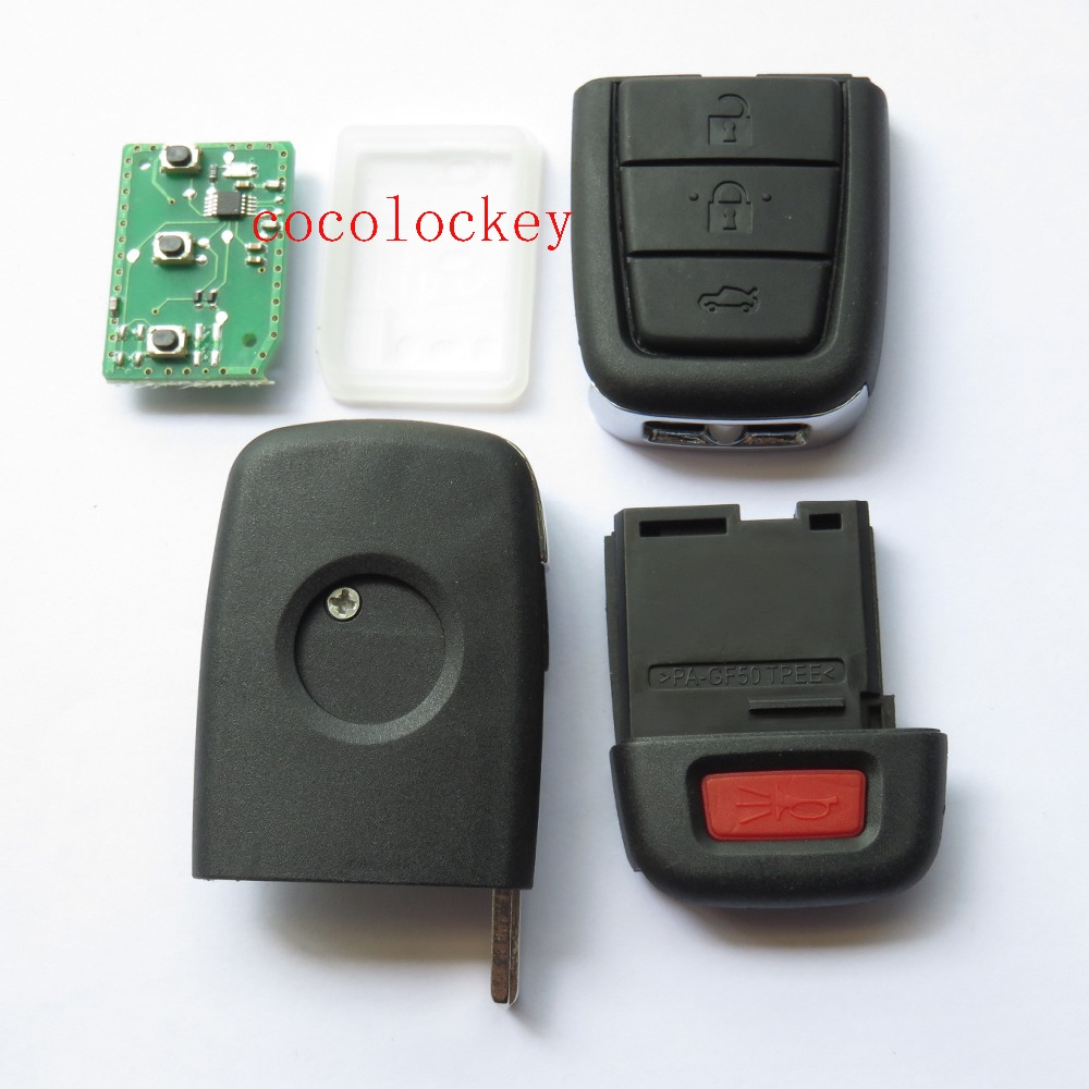 US $35 55 |1pcs Cocolockey 3+1 buttons folding remote key 433MHZ with GM  ID46 chip for COMMODORE Omega Berlina Calais SS SV6 HSV GTS key-in Car Key