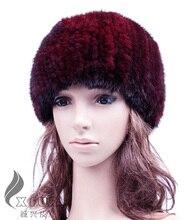 CX-C-128G Действительно Норки Шляпа С Пик Осень Популярные Стиль Женщины Берет Cap