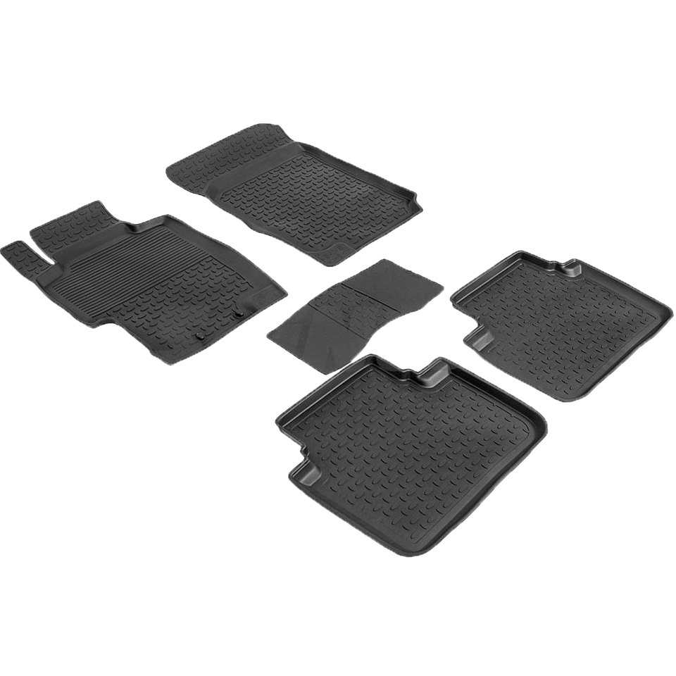Rubber floor mats for Honda Accord VII 2002 2003 2004 2005 2006 2007  Seintex 86191 rubber floor mats for chevrolet niva 2002 2004 2006 2008 2009 seintex 84834