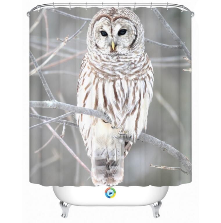 Home Bathroom Owl Shower Curtain Various Size Waterproof Polyester Bath In Curtains From Garden On Aliexpress