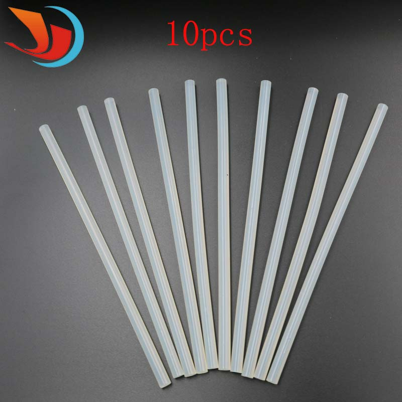 High Quality 10Pcs 7mm Hot Melt Gun Glue Sticks Clear Glue Adhesive Sticks For Electric Hot Melt Gun Transparent Glue Stick glue sticks 15 lbs clear economy glue sticks 7 16 x 10 270 sticks