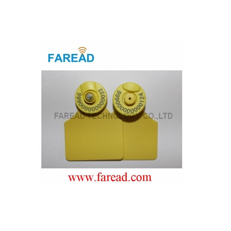 Free Shipping  Sheep cow pig  visual tag  RFID Animal ear tag ICAR Certification x10pcs rfid ear tag iso 11784 5 hdx electronic ear mark for pig cow sheep etc