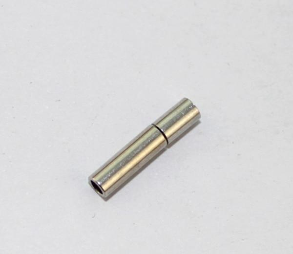 30 комплектов серебристый оттенок 2 мм кожаный шнур застежки на концах#22757