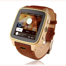 Free DHL shipping Geniune Leather Smart font b Watch b font S8 MTK6572 Android font b