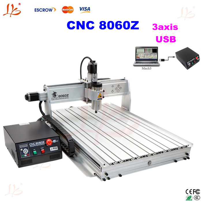 Free shipping Mini CNC router 8060 1.5kw cnc machine with USB port , 3 axis cutting machine for wood metal copper free shipping f3836 vpn industrial 4g lte router for kiosk atm vending machine