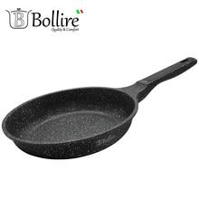 BR-1106 Сковорода Bollire MILANO 24 см. Подходит для всех видов плит, включая индукционные, Технология днаFULL INDUCTION BOTTOM, Внутреннее покрытиеPFLUON Marble - трехслойное, износостойкое антипригарное покрытие