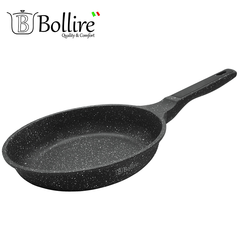 BR-1106 Pan Bollire MILANO FULL INDUCTION BOTTOM Non-stick layer Frying Pan High quality Flat bottom cookware mini aluminum milk pan frying pan soup pan non stick pan red silver ivory