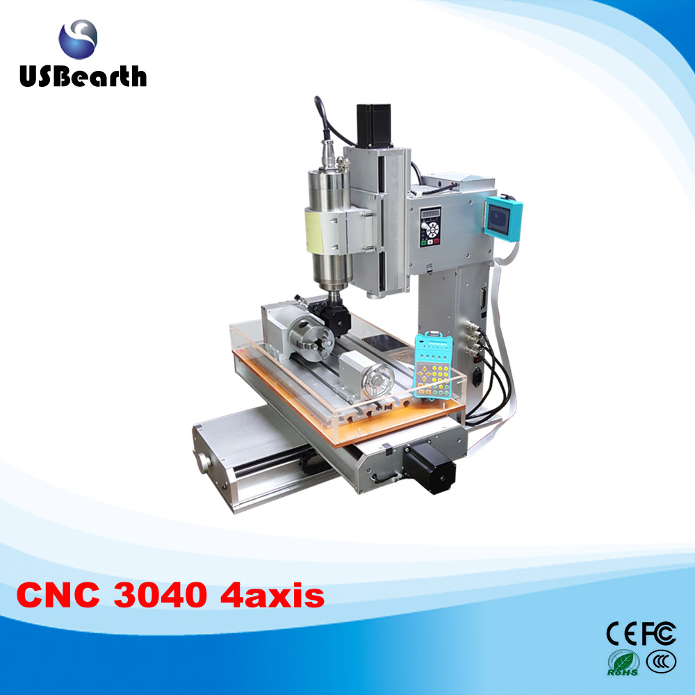 New arrival 4 axis pillar type cnc machine CNC 3040 engraving machine,Ball Screw Table Column Type woodworking cnc router cnc 5axis a aixs rotary axis t chuck type for cnc router cnc milling machine best quality