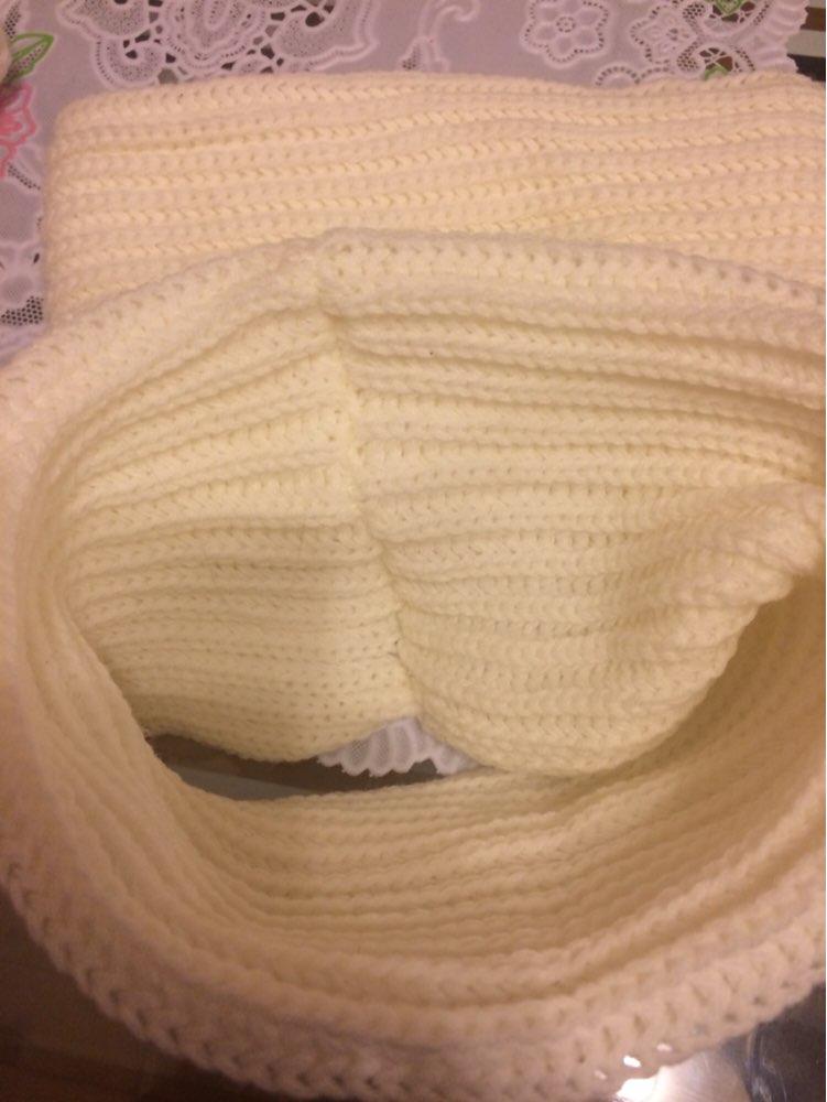 14.11-06.01 конечно долгая доставка, заказывали 2 шарфа! Все супер, беленькие и чистые, запах отсутствовал! Ребёнку в 1.4 месяца на тёплую зимнюю куртку под капюшон вообще шикарно, хорошо тянется и не давит, хорошая вязка и ниток торчащих нет, ну и на взрослого человека тоже можно под капюшон надеть! В целом мы очень довольны, единственное продавец ни разу не ответил на сообщения, открывала спор, но его закрывали без всяких диалогов! А в остальном претензий нет!!!! Спасибо