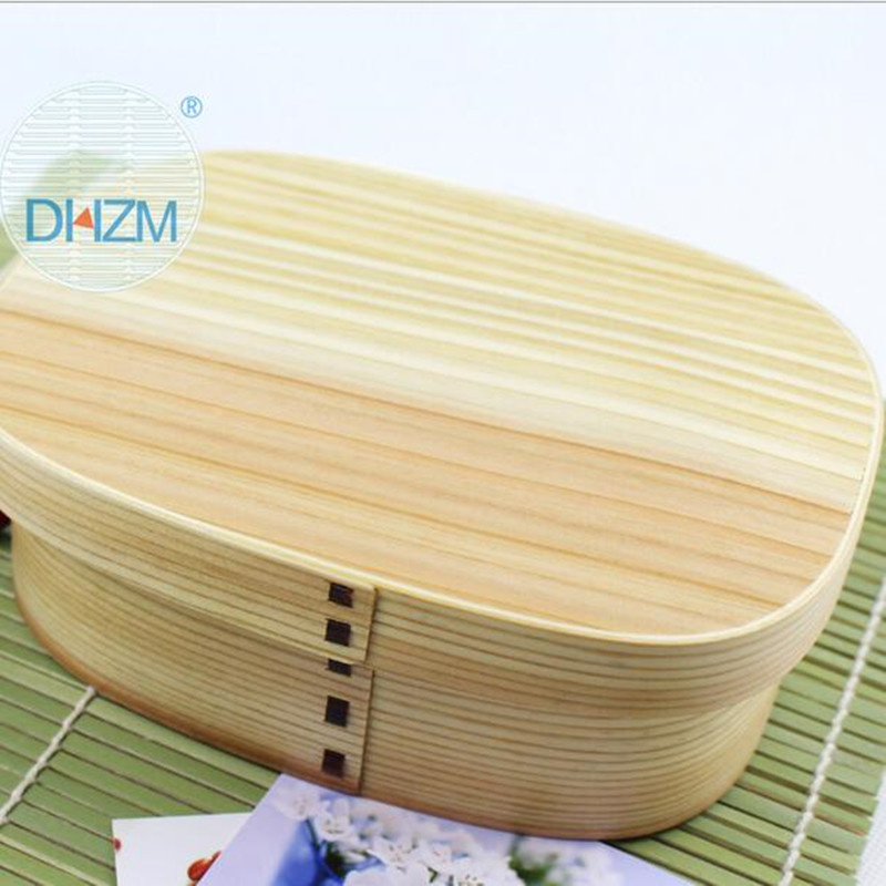 Japanese style lunch box kitchen tool Natural High Quality Wooden plate Children's Environmental protection Lunch Box Dinnerware