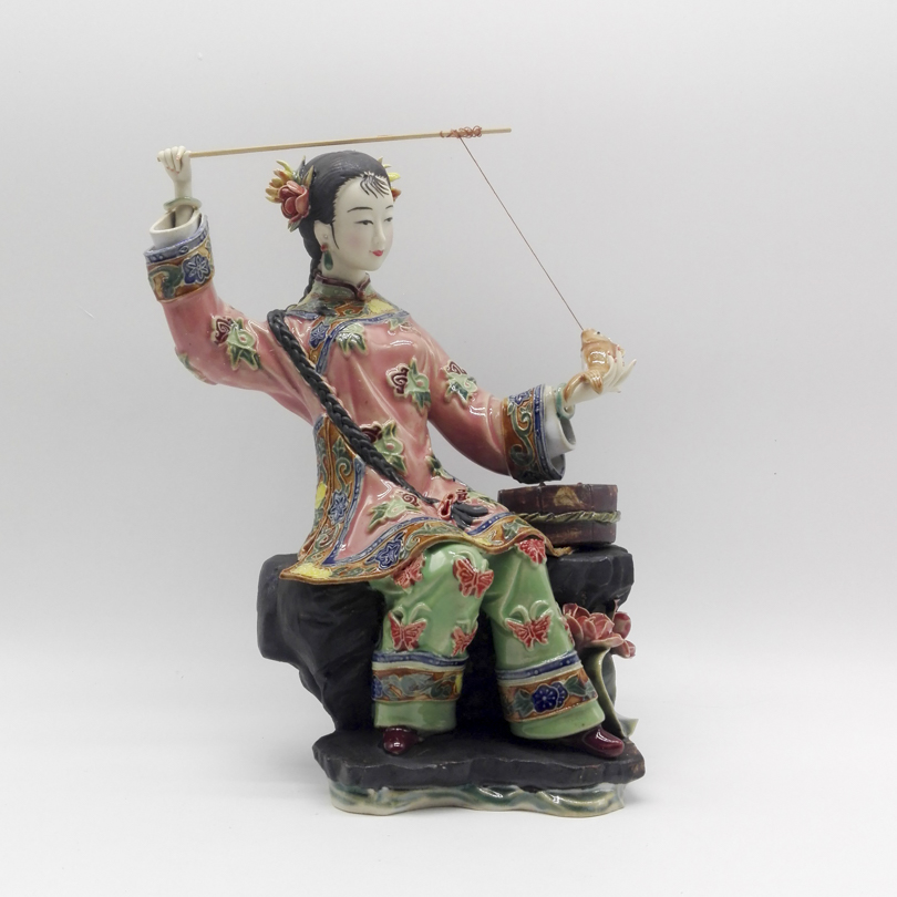 Antique Beautiful Angel Marvel Collectible Figurines chinese Female Porcelain Fashion Dolls Sculptures Vintage Statue Home Decor