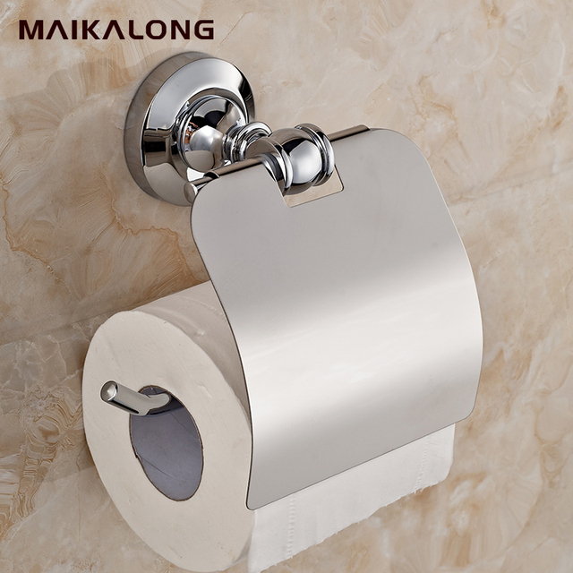 Toilet Paper Holder Roll Tissue With Cover Solid Br Construction