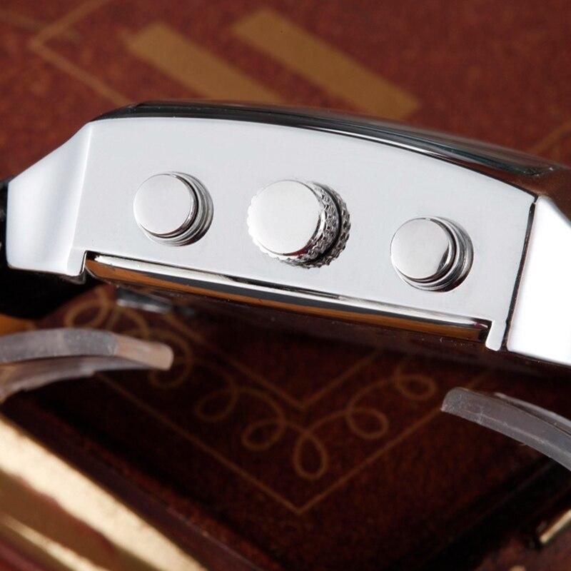Ohsen Analog Quartz Digital Watch Mannen Handklok Waterproof Leather - Herenhorloges - Foto 3