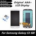 100% Testado Bom LCD para Samsung Galaxy S3 SIII com Montagem Digitador Da Tela de toque para S3 i9300 i9305 i747 T999 i535