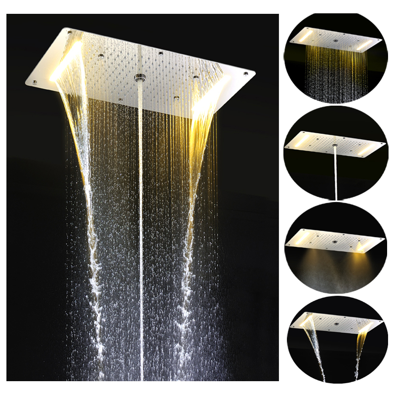 aliexpresscom buy 2016 new design 700380mm mutil function yellow color embedded ceiling led rectangular bathroom shower head from reliable shower head - Multi Bathroom 2016