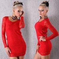платье кружево, клубы платья, белый / черный / красный цвет, один размер, 2240 вт
