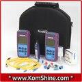 Komshine KLT-25I-MS Perda De Fibra Óptica Tester VFL Inc/Medidor de Potência Óptica/SM & MILÍMETROS Fonte de Luz Com USB função
