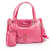 S/M/L Pet Carrier Fashion PVC Handbag For Dog Cat Travel Outside Carrier Bags For Pets Dogs Cats 3 Colors Imitation Leather