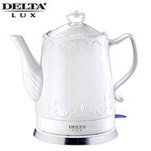 Электрический керамический чайник DELTA DL-1236, Объем 1.5л, Мощность 1500 Вт, защита при отсутствии воды, защита от перегрева, автовыключение, вращающийся на 360 градусов корпус, индикатор работы