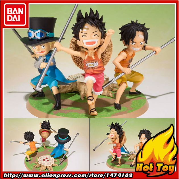 100% Original BANDAI Tamashii Nations Figuarts ZERO Action Figure - Luffy, Ace, Sabo -Gikyoudai no Yakusoku- from ONE PIECE 100% original bandai tamashii nations s h figuarts shf action figure ace from one piece