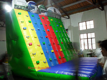 2016 colorful inflatable game entertainment inflatable climbing walls with high quality for sale
