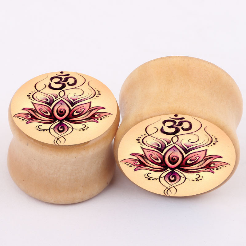1pairs fashion flesh tunnels ear plugs big gauge piercing ear expanders brown beige 6mm – 16mm pircing body jewelry CC089