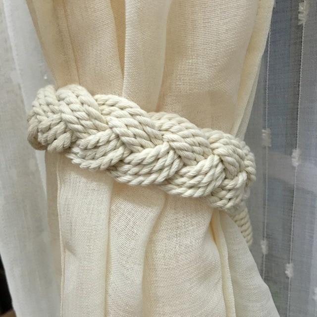 hot koop gordijn tiebacks pure handgemaakte gevlochten holdbacks venster gordijnen haken gordijn tie backs woondecoratie