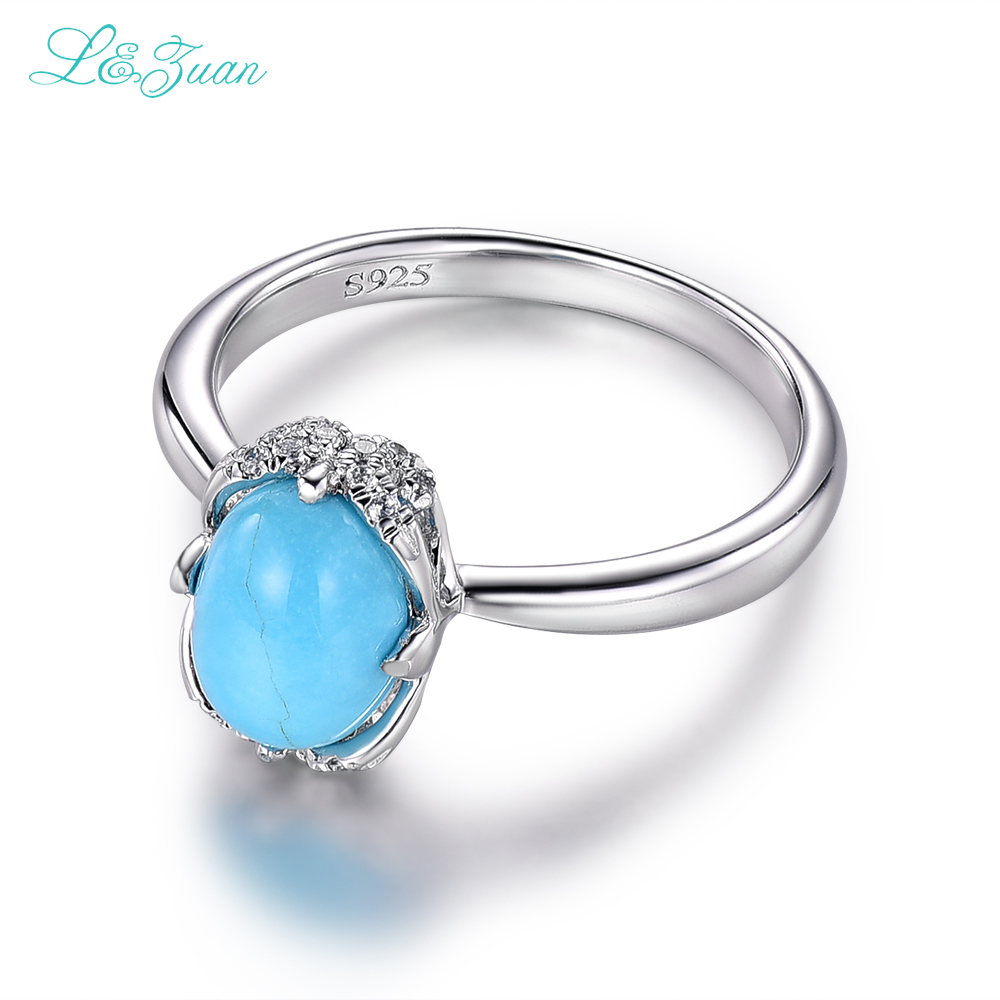 silver natural ring size turquoise stone feroza pure rings gemstone birthstone