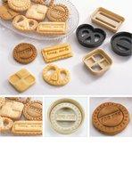 симпатичные пластиковые формочки печенье плесень 4 шт./компл., печенья фондант торт сахар ремесла плесень модель инструмент