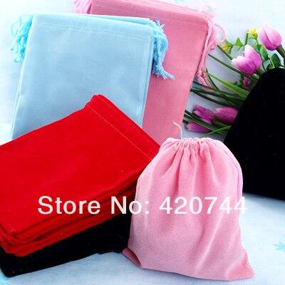200 шт./лот 90*70 мм подарок Бархатные Свадебные Drawstring Чехлы Сумки 4 цвета