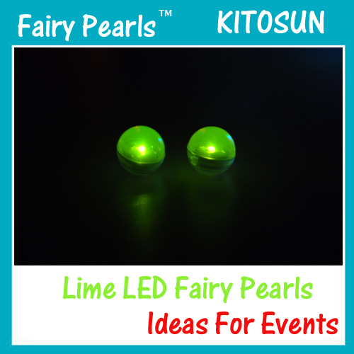 Lime Colr Fairy Pearls