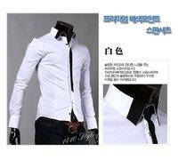 с отслеживанием номер мужчины в рубашки лепесток стиль платье длинный рукав рубашки размер М-XXL 1129 ч