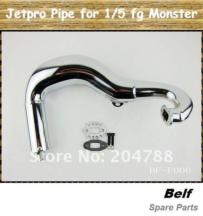 Rc Автомобильная труба, jetpro с глушителем трубы для 1/5th fg автомобиль на больших колесах
