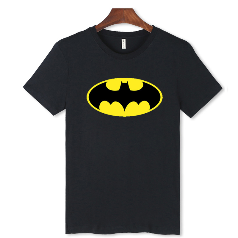 Fashion Cartoon Batman Short Sleeve Tshirt Men Funny Black Summer Tee Shirt Men Cotton Casual Funny T-shirt Plus Size XXS 4XL