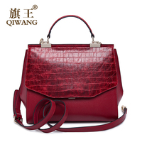 Women Litchi Grain Leather Bag Real Genuine Leather Handbags Woman Vintage Croc Hand Bag Brands Ladies